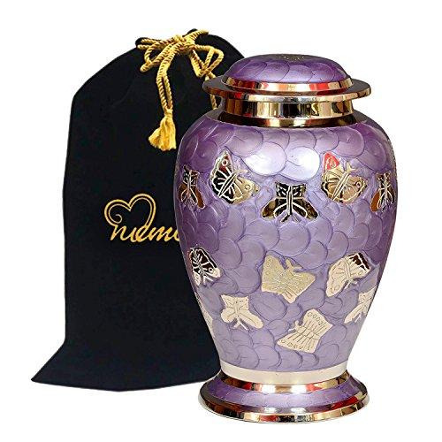 Lavender Butterflies Cremation Urn