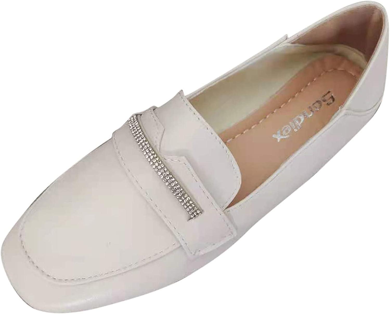 LLXIAO Women's Ballet Flat Comfortable Walking Shoes Fashion Bri