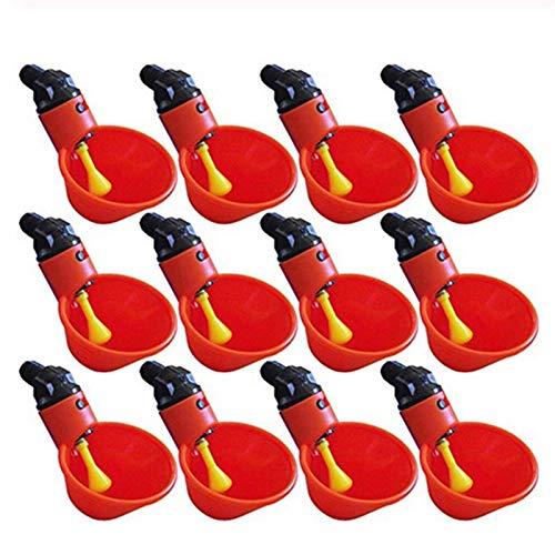 TFGUOqun 50 unids Tazas de Agua de Pollo automáticas, Patio de plástico Alimentador de Agua de Pollo, Aves de Aves de Agua Tazas de Tazas de Agua, alimentación de Estilo Flotador para Suministros