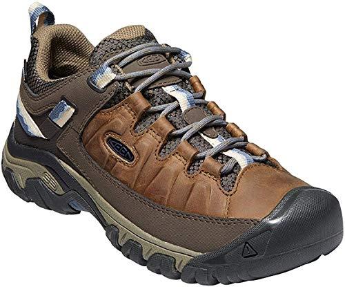 KEEN womens Targhee 3 Waterproof Hiking Shoe, Brindle/Vintage Indigo, 11 US