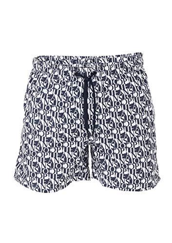Joop! Siesta Beach Zwembroek, heren, zwart, blauw, S, M, L, XL, XXL, 3XL, 100% polyester, sneldrogend, trekkoord