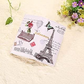 2018 Women PU Leather Paris Romantic Scenery Wallet Varies Patterns Embossed for Ladies Card Holder Clutch Purse Wallet