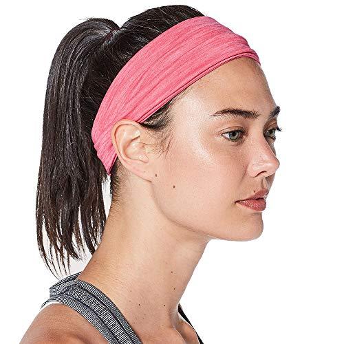 TESITE Hoofdband Sweat-Absorbens Haarband Voor Mannen En Vrouwen Hardlopen Yoga Fitness Draag Anti-Sweat Belt (Roze)