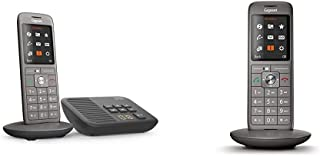 Gigaset CL660A schnurloses Telefon mit Anrufbeantworter, DECT Telefon, Design Telefon, EIN Mobilteil mit TFT Farbdisplay, großes Adressbuch, anthrazit metallic & CL660HX Candy Bar