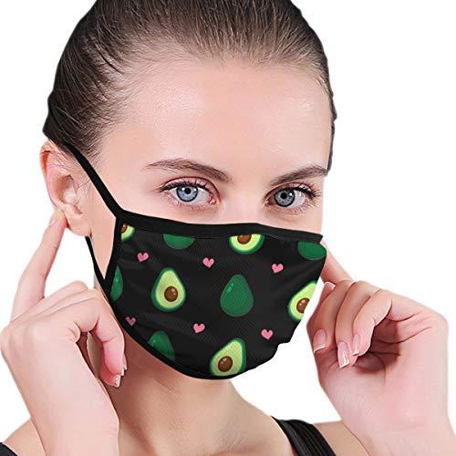 Doinh Black Edge Mask, Love Avocado, stofmasker, Geschikt voor mannelijke en vrouwelijke maskers