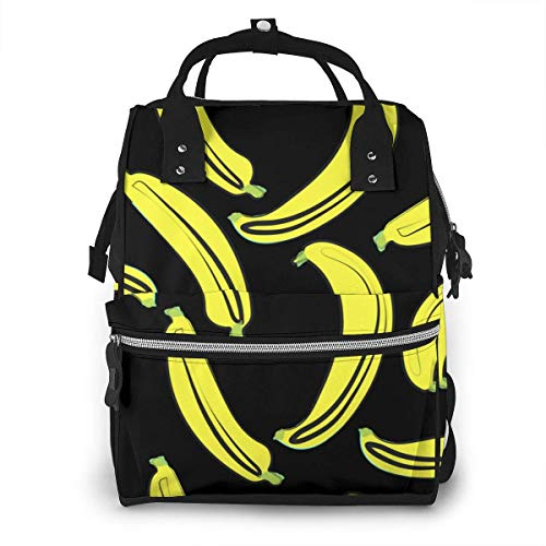 NHJYU Sac à langer, Large Capacity Waterproof Travel Ma-na-ger,baby Care Replacement Bag Versatile Stylish And Durable, Suitable For Mom And Dad,Bananas