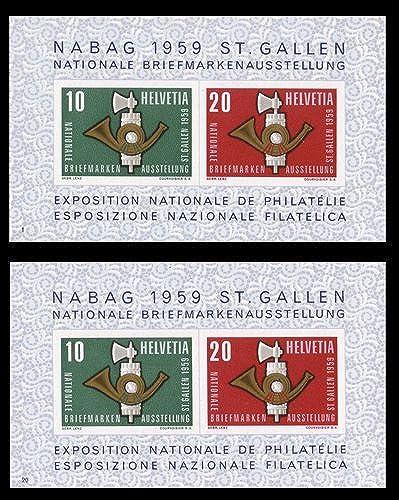 Goldhahn SchWeiß Block 16 postfrisch Serie Nr. 1-20 komplett Briefmarken für Sammler