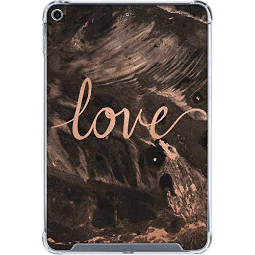 Skinit Clear Tablet Case for iPad Mini 5 (2019) Originally Designed Love Rose Gold Black Design