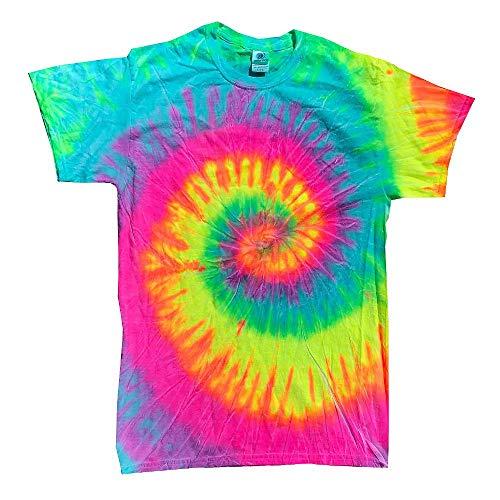 Colortone - Unisex Batik T-Shirt 'Swirl' / Minty Rainbow, M