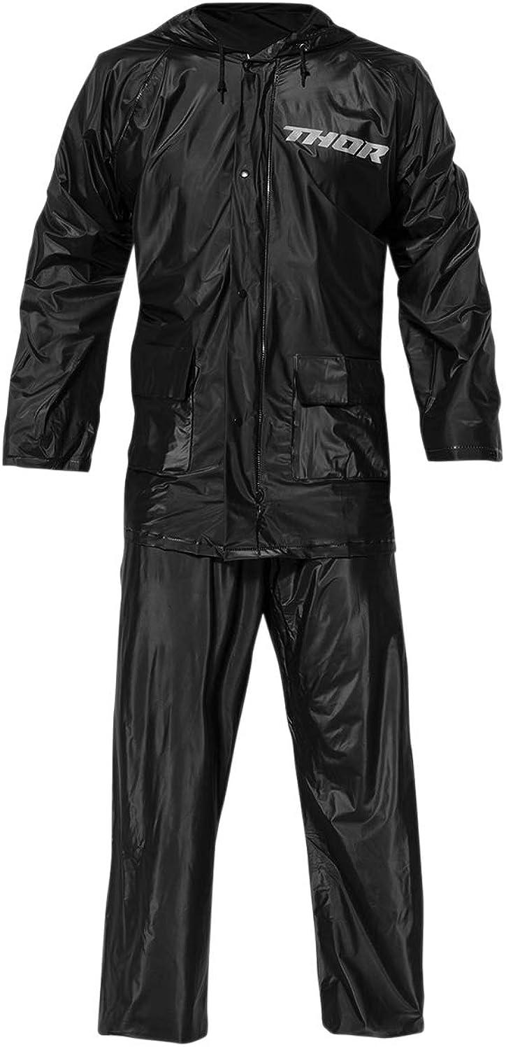 改善ミニ傾向があるThor レインウェア Rain Suit 2021年 モデル ブラック/XL [並行輸入品]