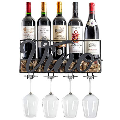 MKZ Products Wall Mounted Wine Rack - Wine Gifts for Wife and Mom, Unique and...