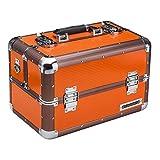 [page_title]-anndora Beauty Case Kosmetikkoffer Schmuckkoffer 20 Liter Aluminium Rahmen - orange