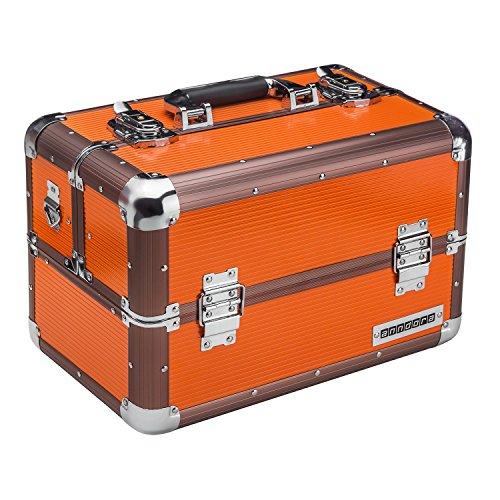 anndora Beauty Case Kosmetikkoffer Schmuckkoffer 20 Liter Aluminium Rahmen - orange