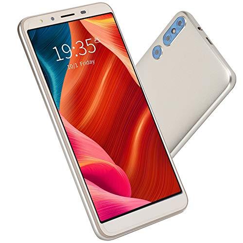 Deansh Smartphone, 5.0in 3G Versión Internacional Tarjetas duales Doble Modo de Espera Smartphone WiFi Multifuncional 512MB + 4G Teléfono móvil con procesador de 8 núcleos(UE Dorada)