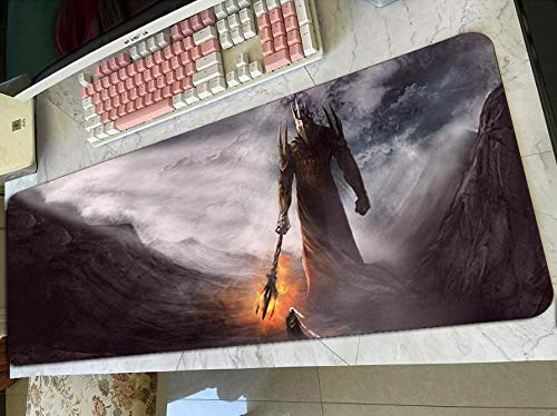Gaming Mouse Pads Lord of The Ring Padmouse Gaming Mousepad Game Kawaii Mouse Pad Gamer Computer Desk Pc Mat Notbook Mousemat C(40×90Cm)