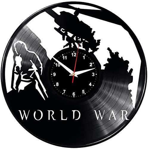 EVEVO World War Z Video Game Reloj De Pared Vintage Diseño Moderno Reloj De Vinilo Colgante Reloj De Pared Reloj Único 12