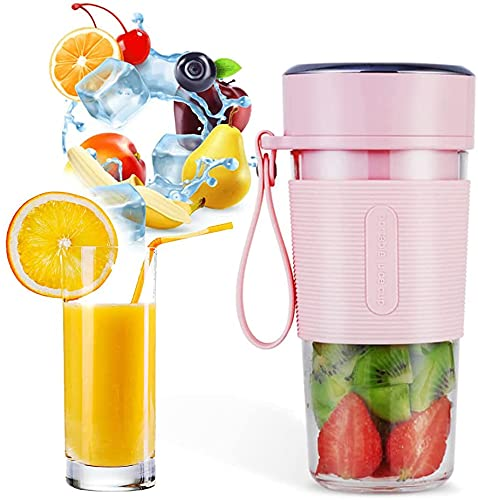 Personal Size Blender for Smoothies, Juice and Shakes, Food Grade Portable Blender, Travel Blender Juicer Cup with USB Rechargeable for Home, Travel, Office, Outdoors