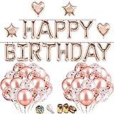 iZoeL Anniversaire Ballon Rose Kit Guirlande Happy Birthday Ballon, 15 Ballons...