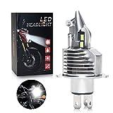 OPPULITE Bombilla H4 LED para Faro de Moto 8000LM, DC 12V, Reemplazo de la Luz Halógena Kit, Xenon Blanco 6500K, 1 Pieza