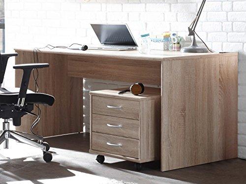 möbelando Schreibtisch Bürotisch Computertisch Arbeitstisch Tisch Büromöbel Olli I Sonoma-Eiche