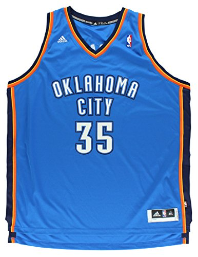 NBA Men's Oklahoma City Thunder Kevin Durant Revolution 30 Road Swingman Jersey H Size (Blue, XXX-Large)