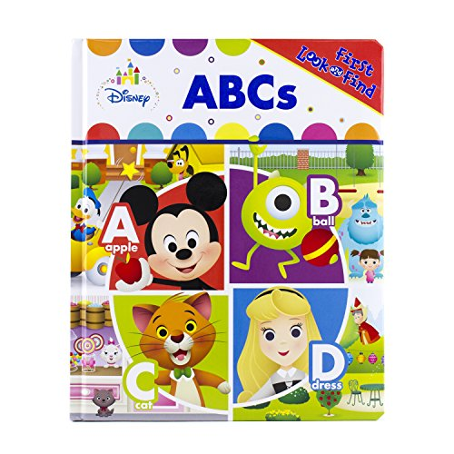 First Look & Find Children's Activity Board Book: Disney Baby Mickey Mouse, Dumbo, & More ABCs or DreamWorks Trolls $5 Each & More + Free S/H w/ Prime or FS on $25+