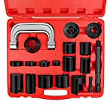 AURELIO TECH 21PCs Ball Joint Press Kit & U Joint Removal Tool with 4x4 Adapters, for Most 2WD and 4WD Cars and Light Trucks