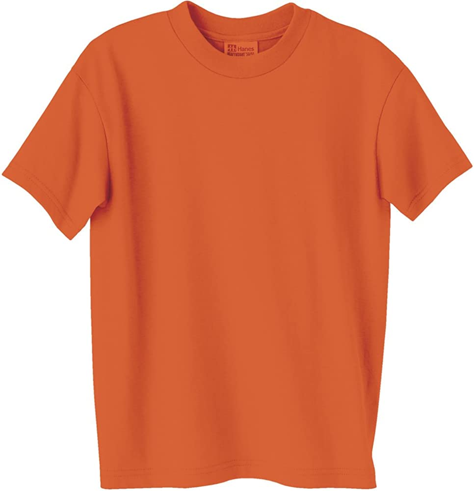 Hanes 5.2 oz Youth COMFORTSOFT HEAVYWEIGHT 50/50 T-Shirt, Orange