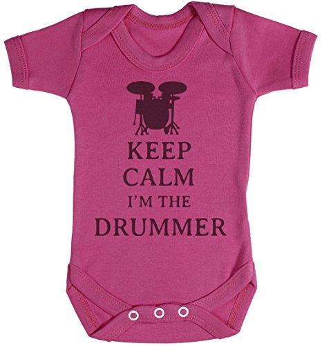 Keep Calm I'm The Drummer Body bébé - Gilet bébé - Naissance Rose