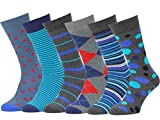 Easton Marlowe 6 PR Calcetines Estampados Hombre - 6pk #24, mixed - neutral main colors, 39-42 EU shoe size