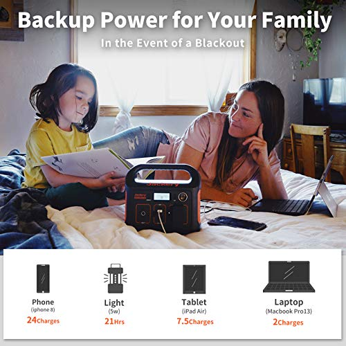 Jackery Portable Power Station Explorer 240, 240Wh Backup Lithium Battery, 110V/200W Pure Sine Wave AC Outlet, Solar Generator (Solar Panel Not Included) for Outdoors Camping Travel Hunting Emergency