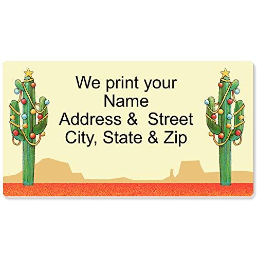 Western Christmas Address Label - Customized Return Address Label - 90 Labels - Personalized Christmas Labels