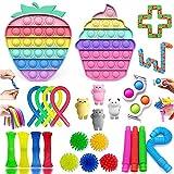 Fidget Toys Pack, Alivia Estrés y la Ansiedad Toy, Fidget Toys Set, Push Bubble Fidget Juguete Para Niños, Autismo Regalos para niños, Recompensas en el aula de la Escuela