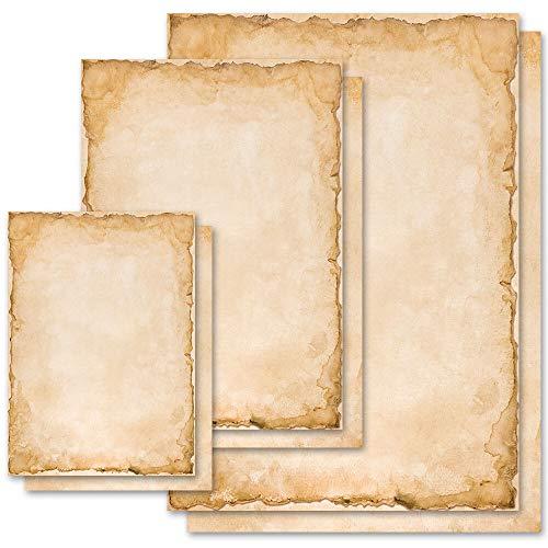 50 fogli di carta da lettera decorati Carta Motif VINTAGE Antico & Storia DIN A4 - Paper-Media