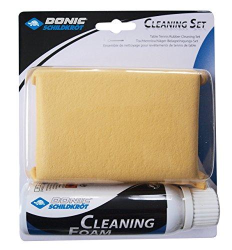 Donic-Schildkröt Tischtennis Reinigungsset, 100 ml Schaumreiniger und Schwamm, zum Auffrischen der Schläger-Beläge, 828521