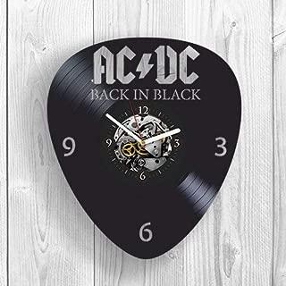 Vinyl Wall Clock, AC DC, ACDC Rock Music, Band, Highway to Hell, TNT, Brian Johnson, Room Decor, Home Decor, Unique Design, Pop Modern Wall Art, Vintage Vinyl Record