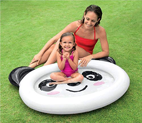 JACKWS Baby Piscina aufblasbares Pool Kinderschwimmbecken Baby Float Piscina Kind Baby Piscine gonflable Piscine, Giraffe Pool (Color : Panda Pool)