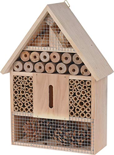 made2trade Robustes Insektenhotel aus Naturholz - 22x9x30cm
