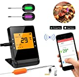 Shinmax BBQ Meat Thermometer for Grilling,APP Controlled Smart Cooking Bluetooth Thermometer for Outdoors Smoker Oven BBQ Indoor Kitchen