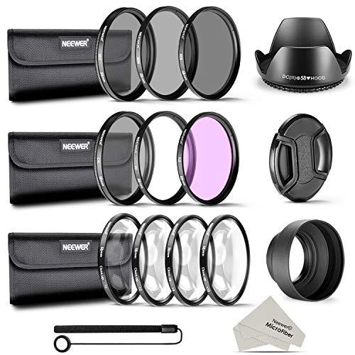 Neewer 58MM Professionelle Komplette Objektiv-Filter Zubehörsatz Set für Canon EOS 700D 650D 600D Rebel 550D 500D 450D 400D 350D 100D (T5i T4i T3i T2i T1i XSi XTi XT SL1)