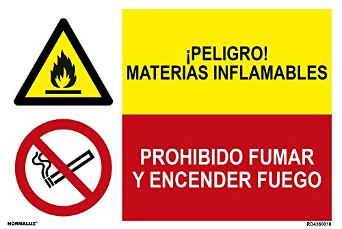 Normaluz PRD4360018 - Señal Combinada Homologada ¡ Peligro ! Materia