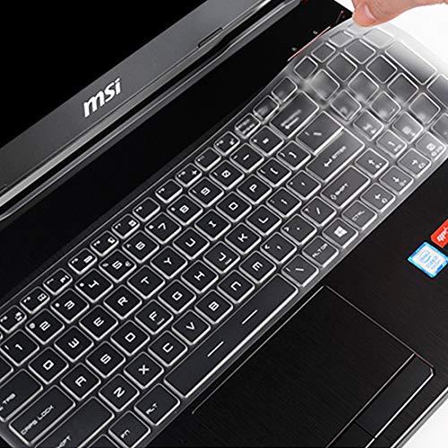 Keyboard Cover Skin for MSI 15.6 GP65 GL65 GL62M GL63 GP62M GP63 GE62 GE63VR PE62 GS63VR WS63VR /17.3 MSI GT76 GE76 GS76 GS75 GE75 GF75 GP72 GS72 GS73VR GL72M GT72 GF72VR GE73VR GL73 Gaming -TPU