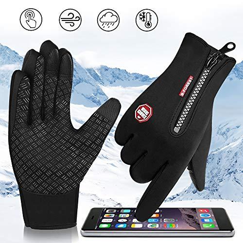 SANBLOGAN Touchscreen Handschuhe, Touch Gloves Winterhandschuhe Herren Damen Warm Anti-Rutsch Sport Gloves für Reiten Laufen Skifahren Wandern Radfahren Motorrad Handschuh
