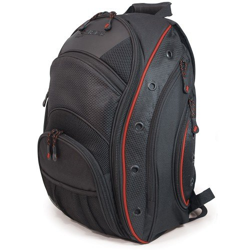 Mobile Edge Black/Red EVO Laptop Backpack 16 Inch PC, 17 Inch MacBook Pro, for Men, Women, Business, Students Meev07
