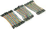 3 conectores DuPont de 40 pines / cables puente hembra, conector hembra, conector hembra, conector macho, cada uno de 10 cm (3 unidades)