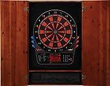 Viper Metropolitan Solid Wood Cabinet & Electronic Dartboard Ready-to-Play Bundle: Premium Set (800 Dartboard and Darts), Cinnamon Finish