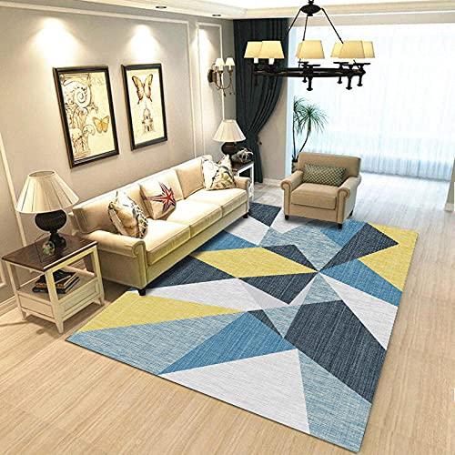 Tapetes para Mesa Geometría Simple Impreso Sofá Rectangular Manta De Mesa De Café Alfombra De La Habitación del Hogar 100x150cm