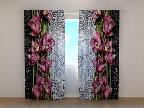 Wellmira Fotogardinen, Vorhang mit Fotodruck, Fotovorhang mit Motiv, Bedruckte Gardine, Maßanfertigung (Gabardine, 245x250 cm)