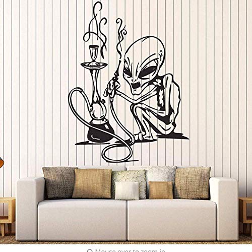 Pegatinas De Pared De Cachimba Calcomanía De Vinilo Decoración Para Fumar Para Bar Store Mural De Pared Extraíble Para Decoración De Logotipo De Tienda 75 * 57 Cm