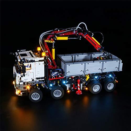 LesDiy USB-betriebenes LED-Beleuchtungsset für Lego Mercedes-Benz Arocs 3245 42043 (Nur LED Enthalten, Kein Lego Kit)